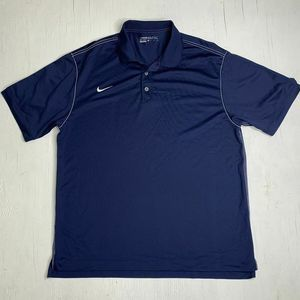 Nike Golf Dri Fit Breathable Blue Polo Shirt XL